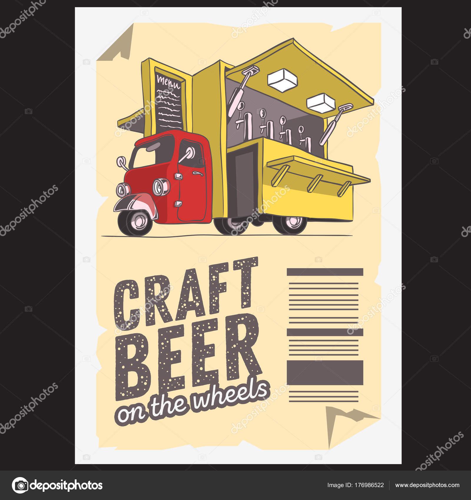 Mobilen Craft Beer Pop-Up-Fahrzeug für Catering und Straße Verkauf ...