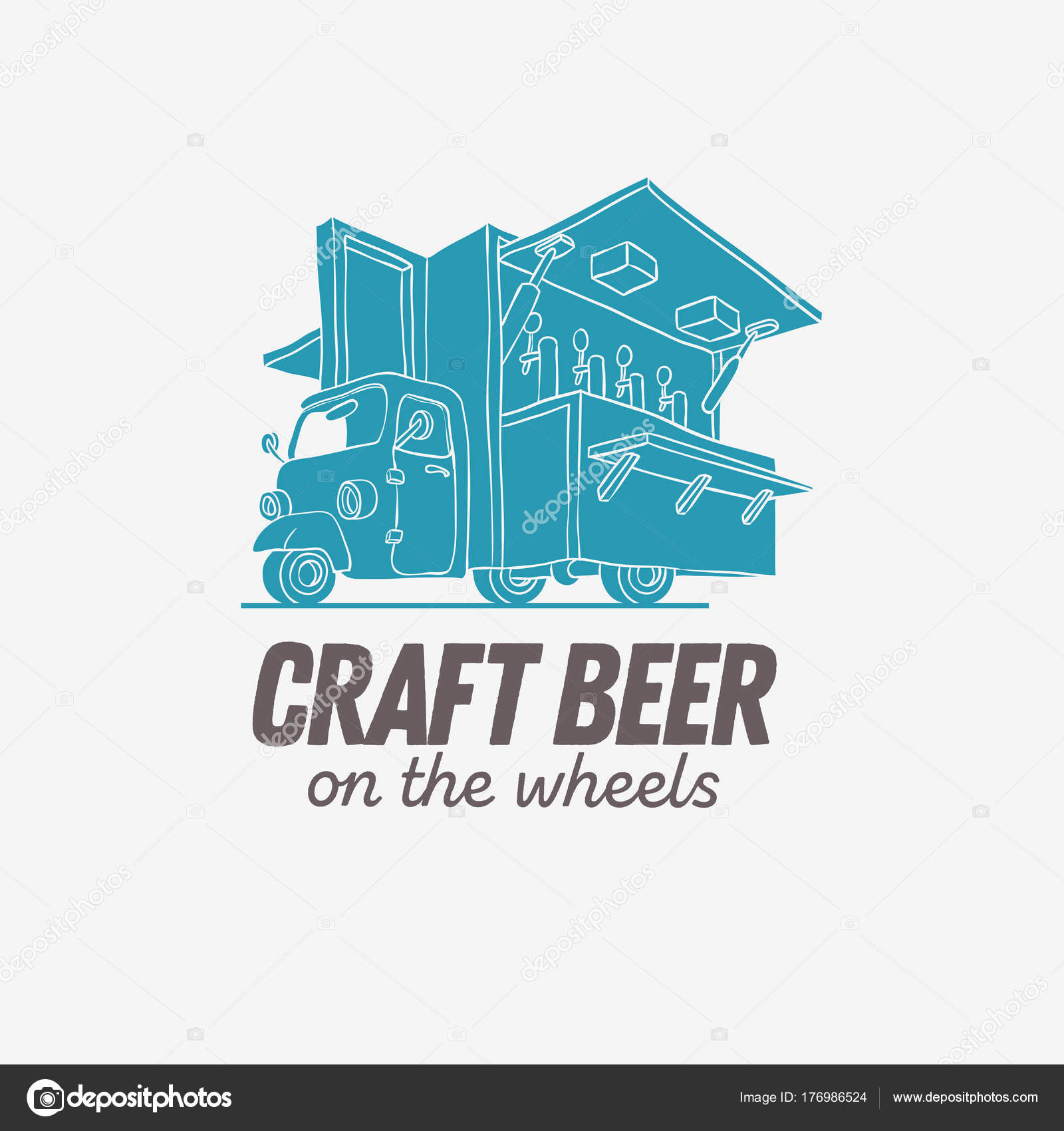 Mobile Craft Beer Pop Up Vehicle For Catering And Street Selling
