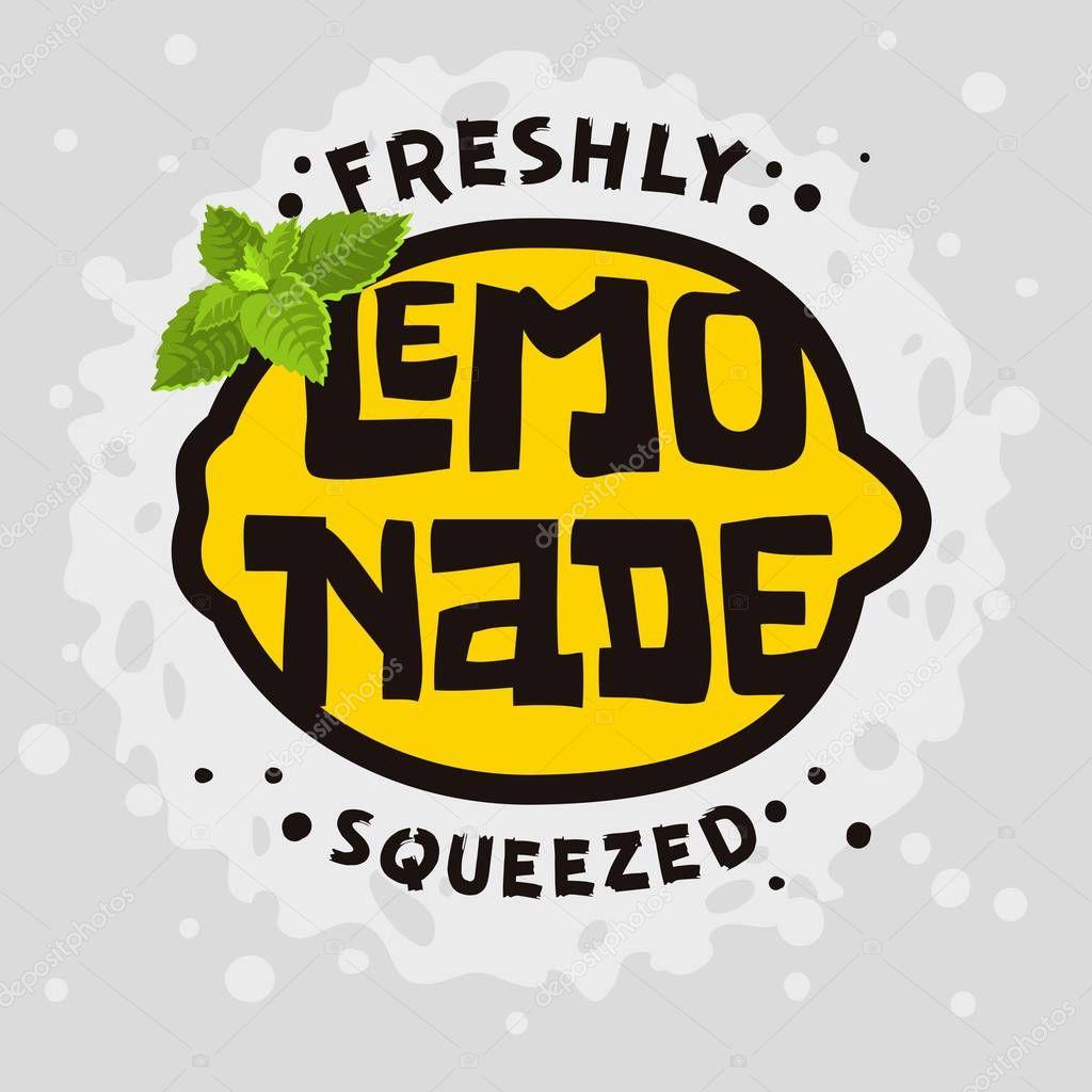 Home Made Lemonade Typographic Design.