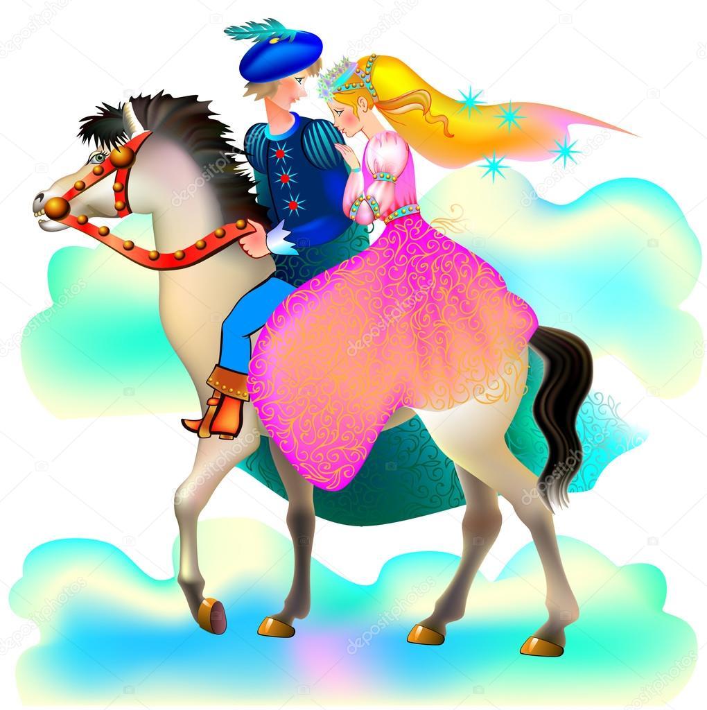 Одноклассники, прикольные картинки принцесса на коне