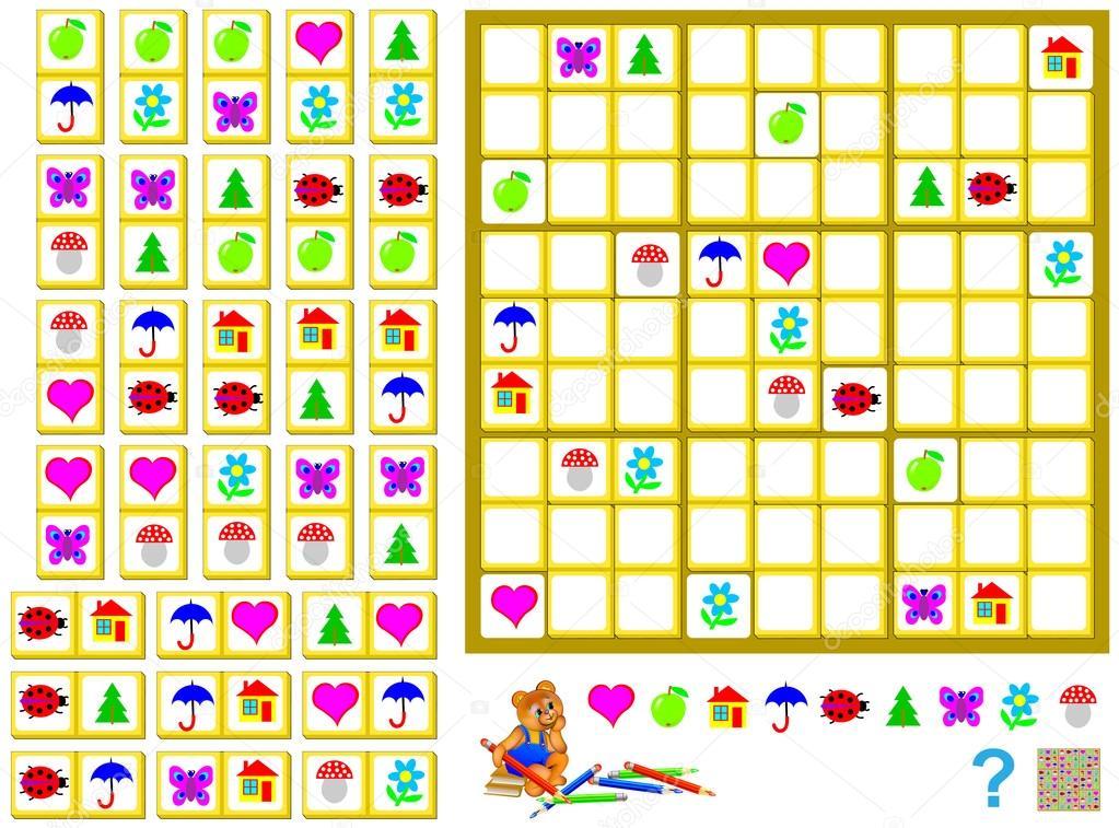 Lógica Sudoku juego - necesita para completar el rompecabezas con ...