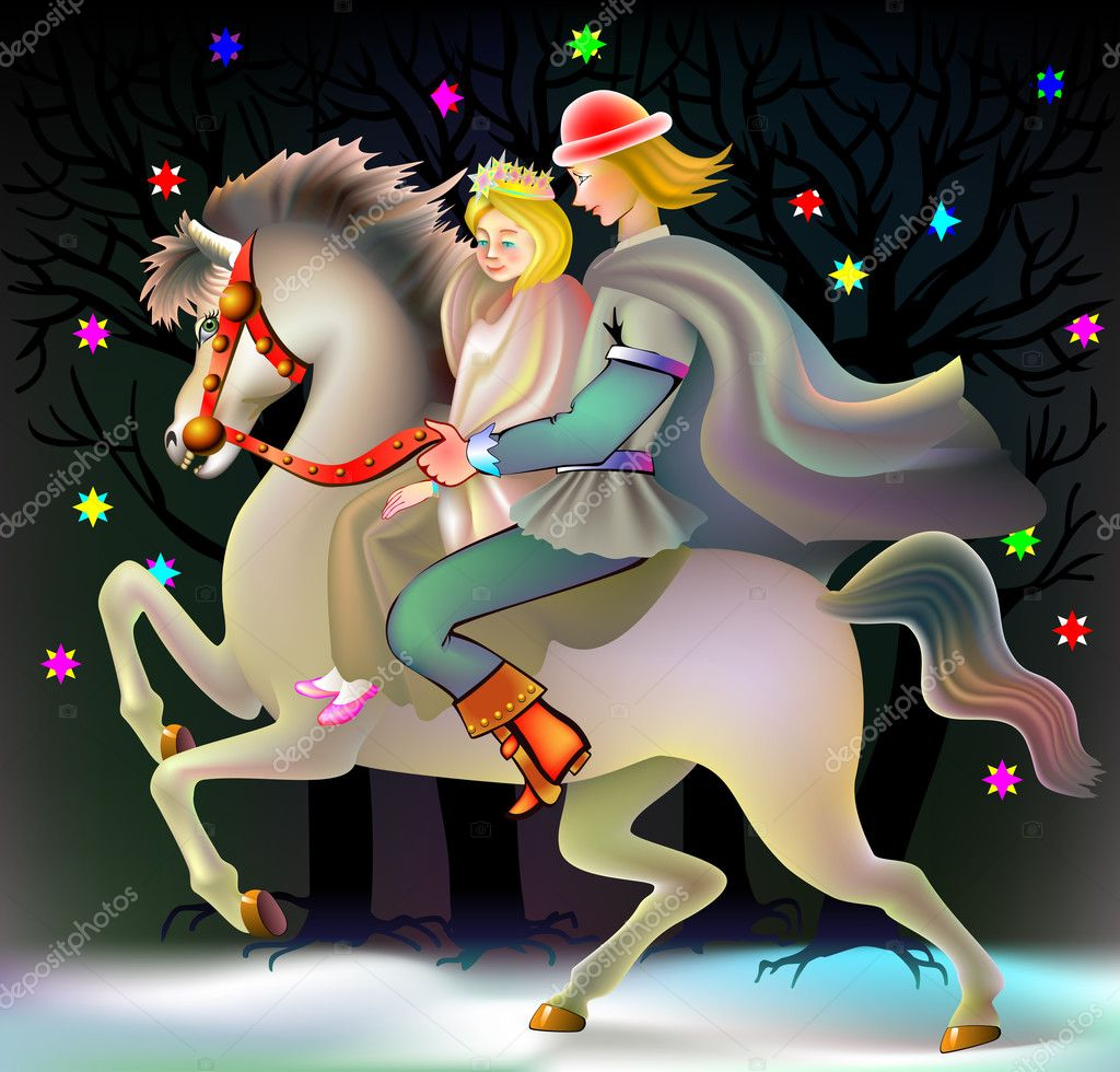 анимационная картинка сказочного принца на коне менее они находятся