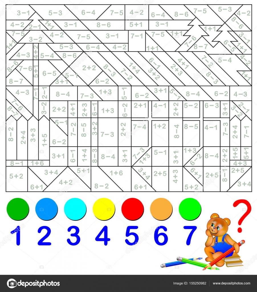 Mathematischen Arbeitsblatt für Kinder auf Addition und Subtraktion ...