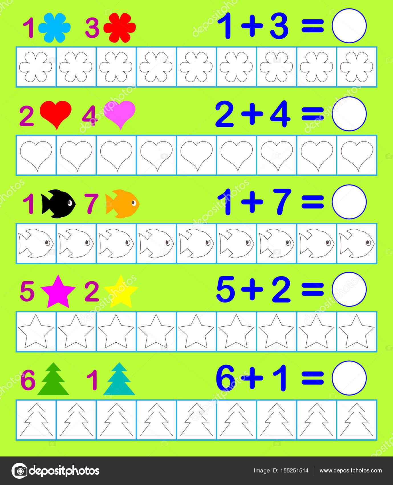 Mathematischen Arbeitsblatt für Kinder an. Müssen Sie entsprechende ...