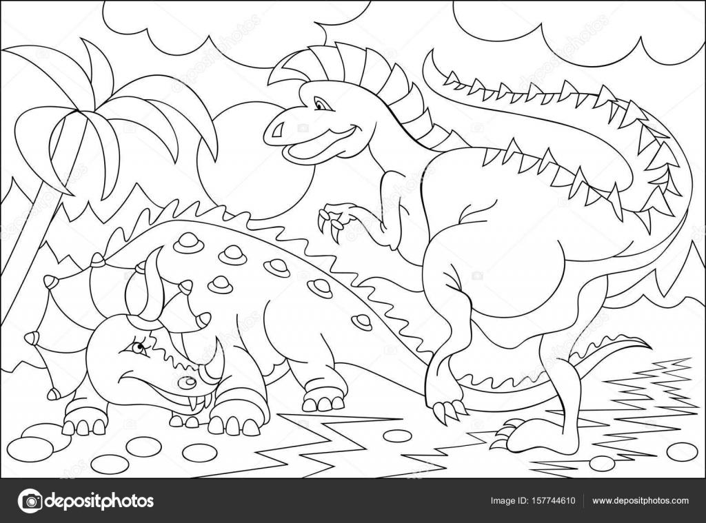 Imágenes: dinosaurios graciosos para colorear | Página para colorear ...