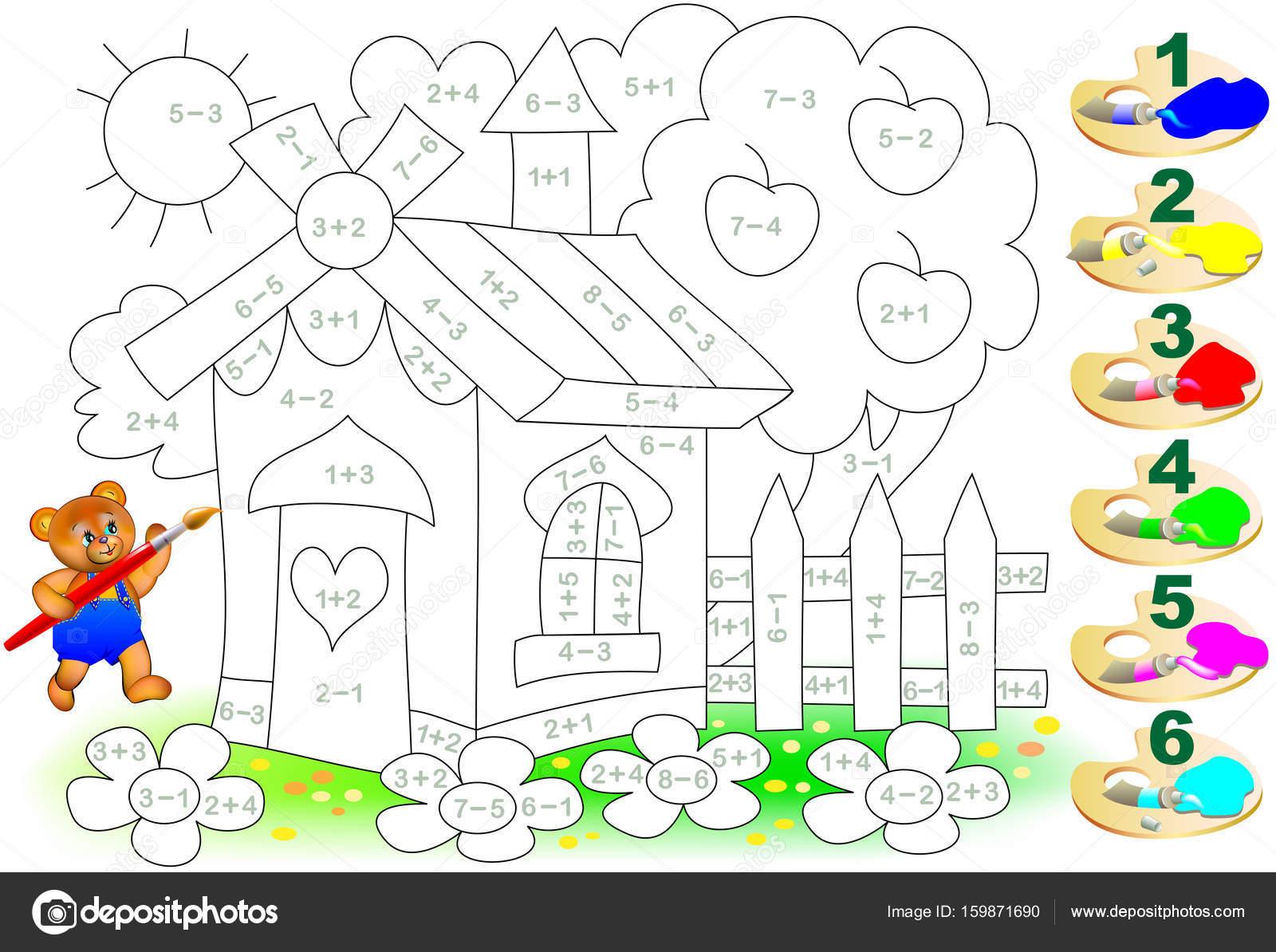 Dibujos: signos de sumas y restas | Hoja de cálculo matemático para ...