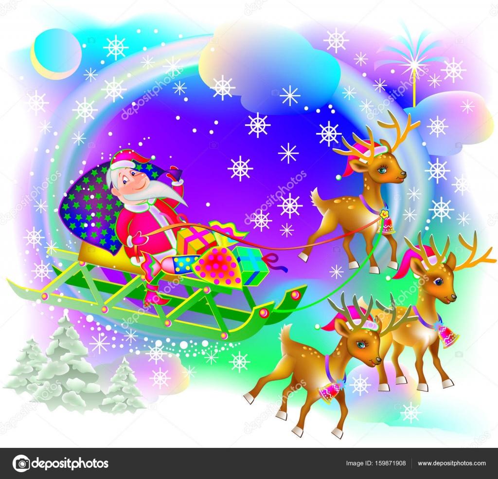 Biglietti Di Natale Divertenti.Biglietto Di Auguri Di Natale Con Babbo Natale Divertente