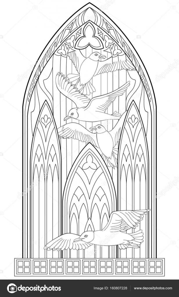 p225gina com preto e branco da linda janela g243tica medieval