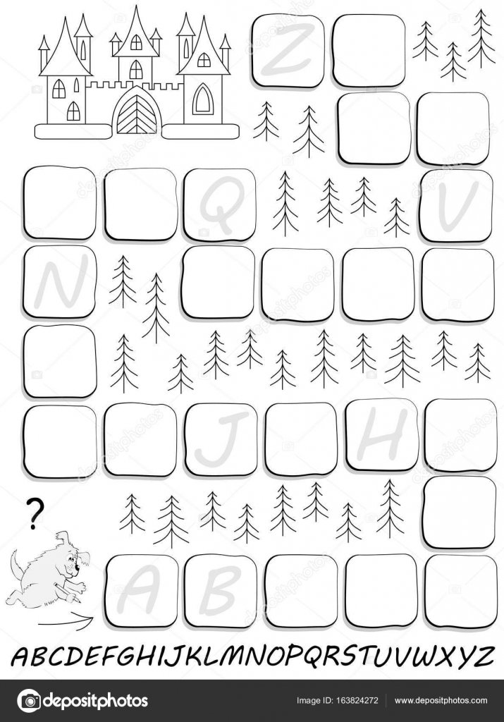 Black and white worksheet for children with exercise for study ...