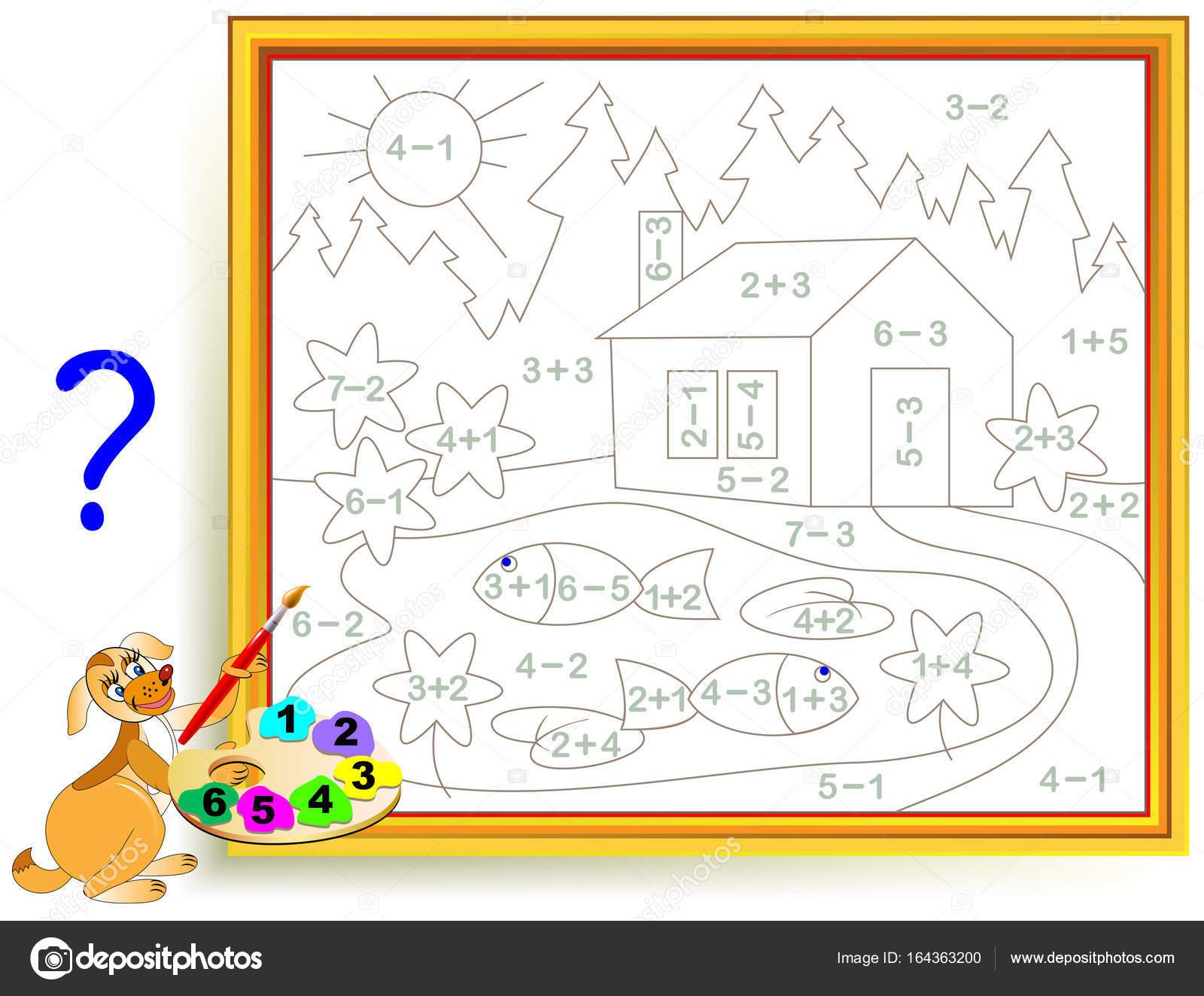 Foglio Di Lavoro Di Matematica Per Bambini Su Addizioni E