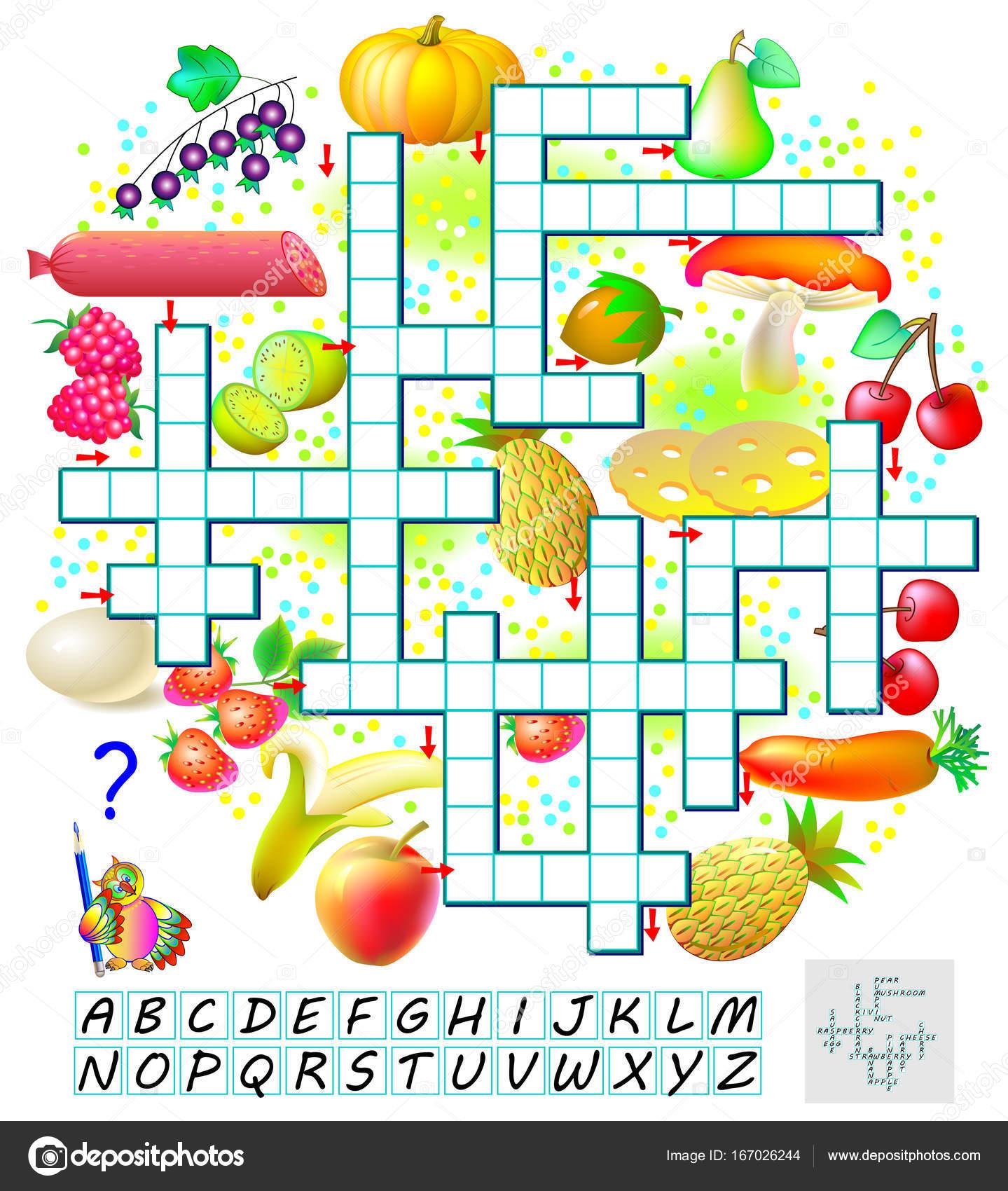 Crucigrama Ingles Ninos Juego De Crucigrama Con Alimentos Pagina