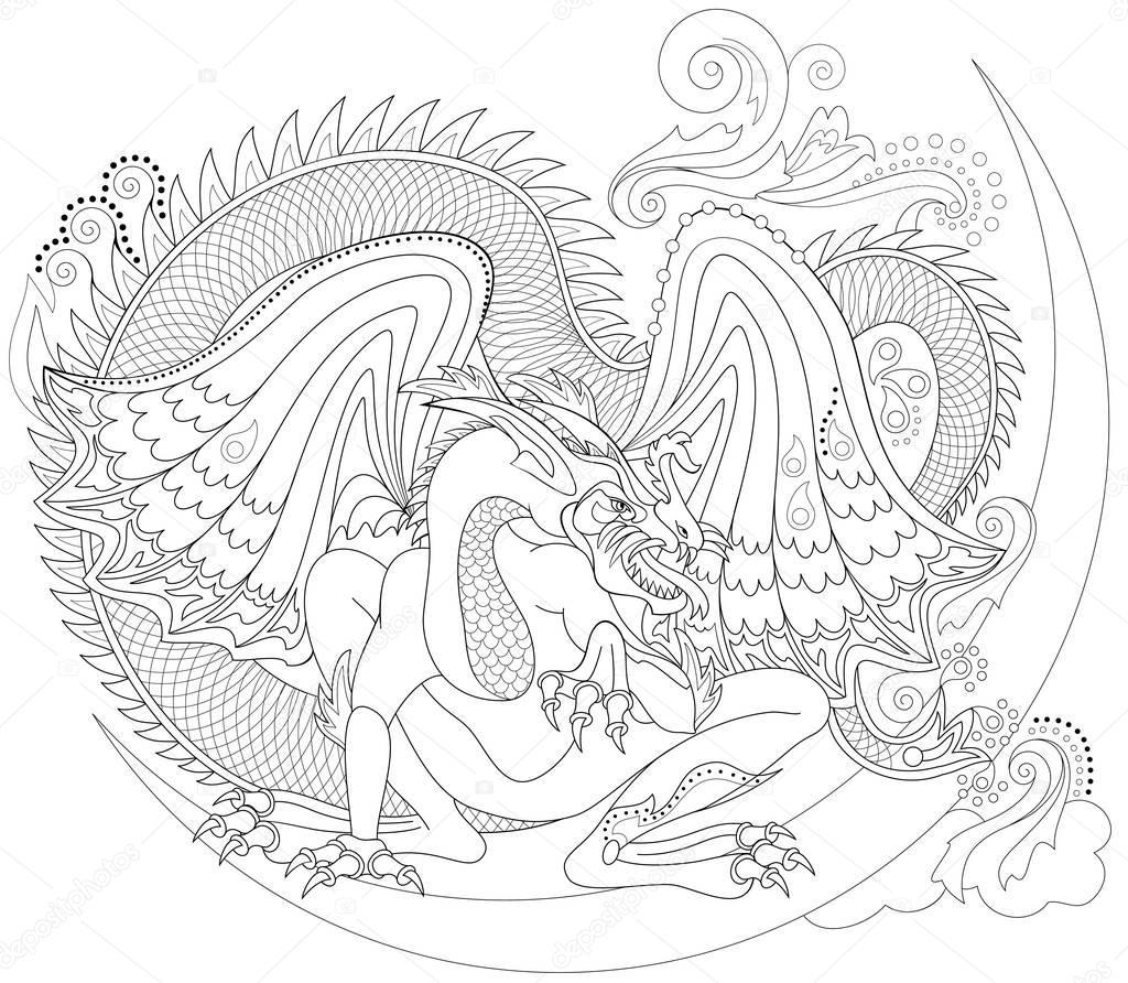 black and white seite zum ausmalen. zeichnung des