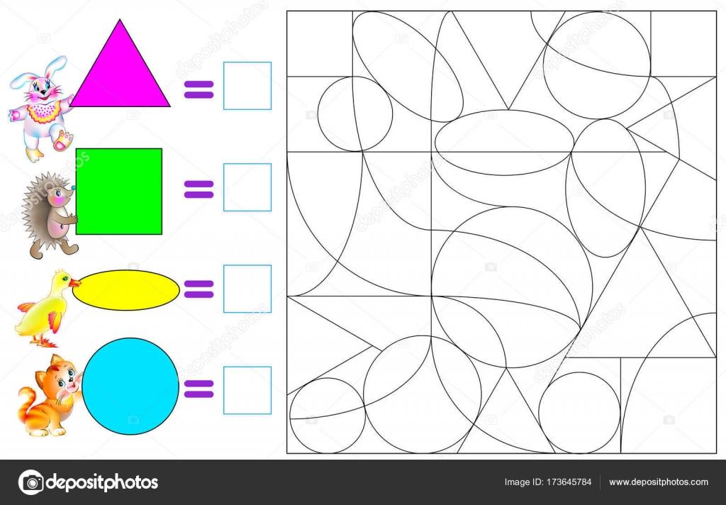Figuras geometricas de caricaturas | Ejercicio para los niños ...