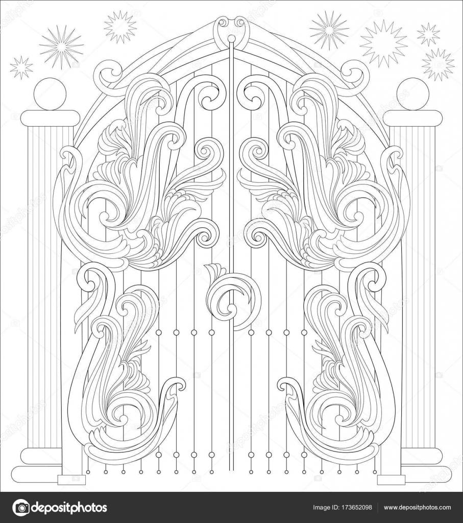 Dibujos Puertas Para Colorear Página Para Colorear En