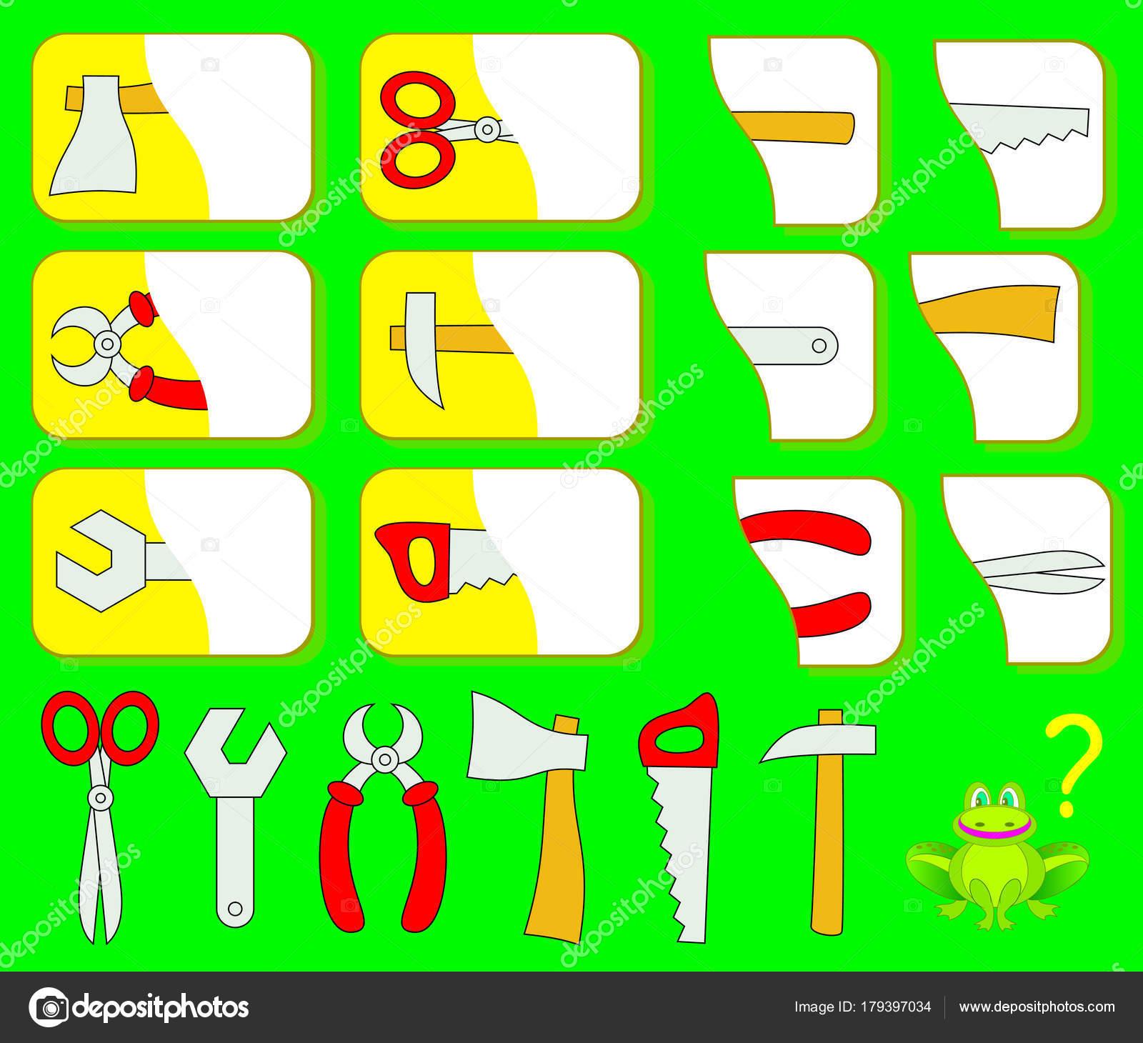 Logik Training Für Kinder Die Zweiten Teile Der Werkzeuge Finden ...