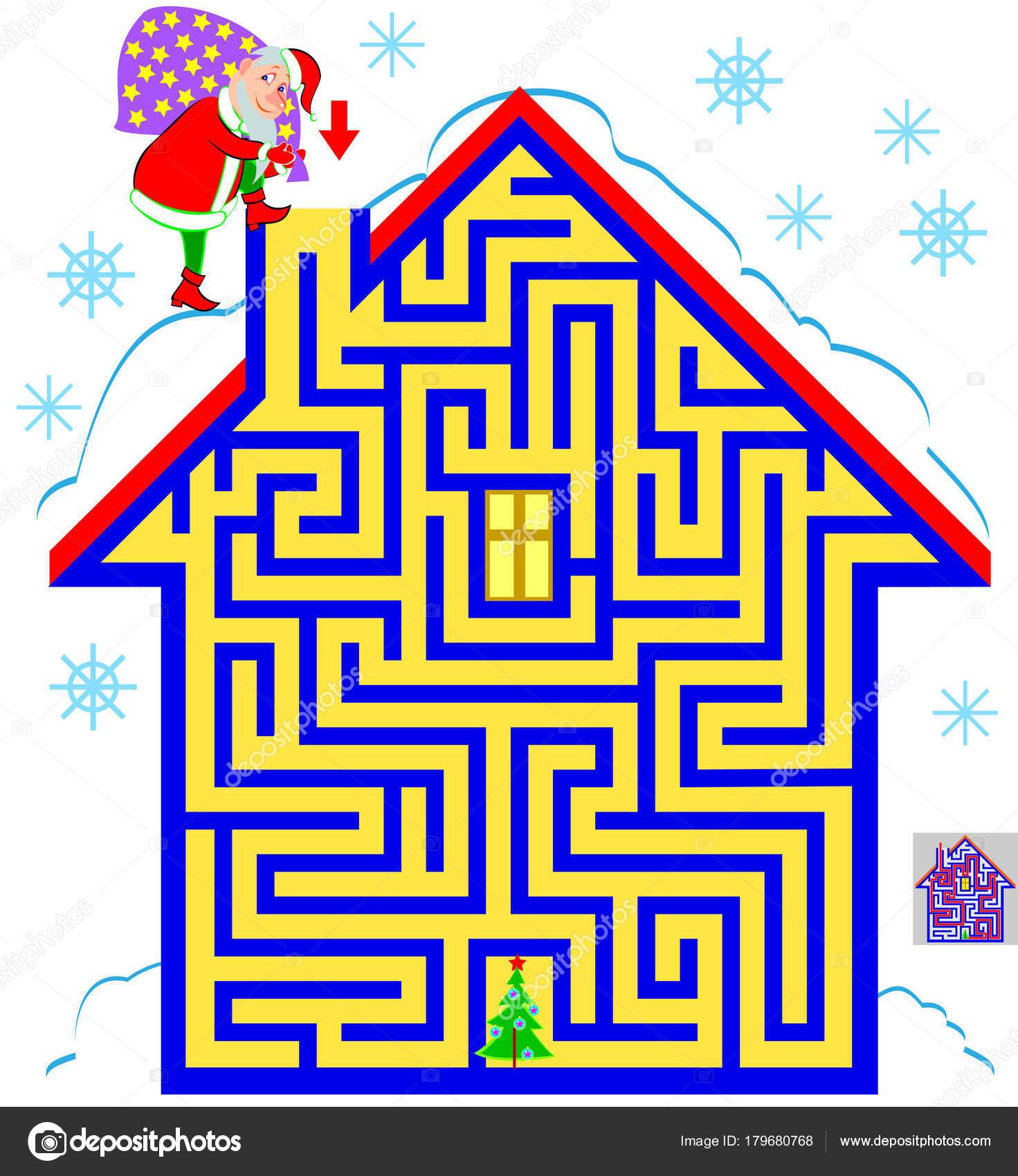 Logikai Puzzle Játék Labirintus Kicsiknek Nagyoknak Egyaránt Segítsen  Megtalálni Utat — Stock Vector f5bf40b861