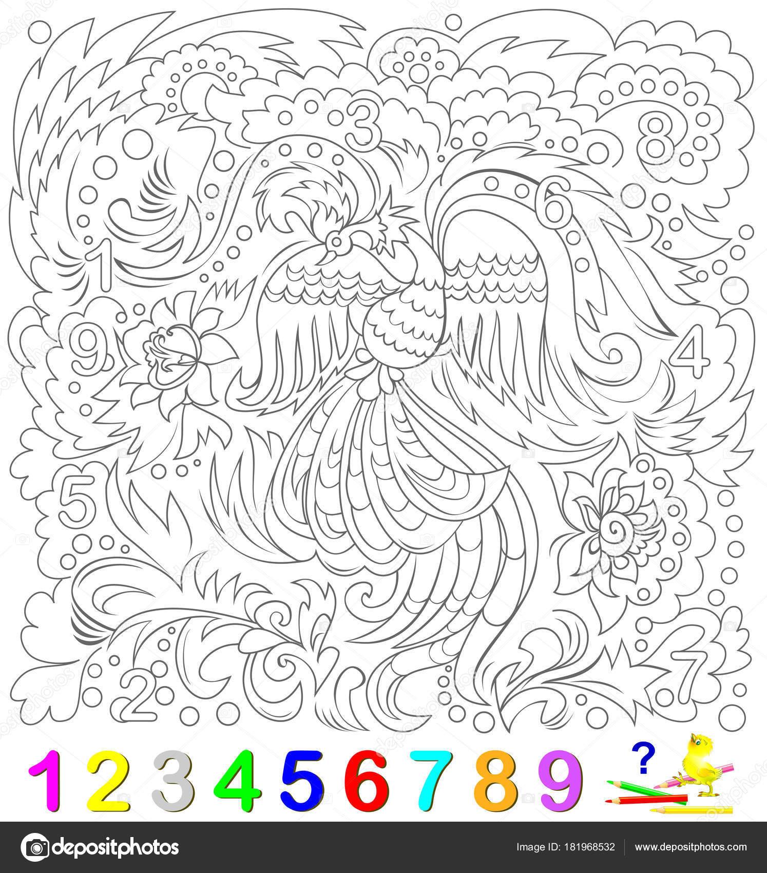 Página Educativa Para Niños Pequeños Encontrar Los Números Ocultados ...