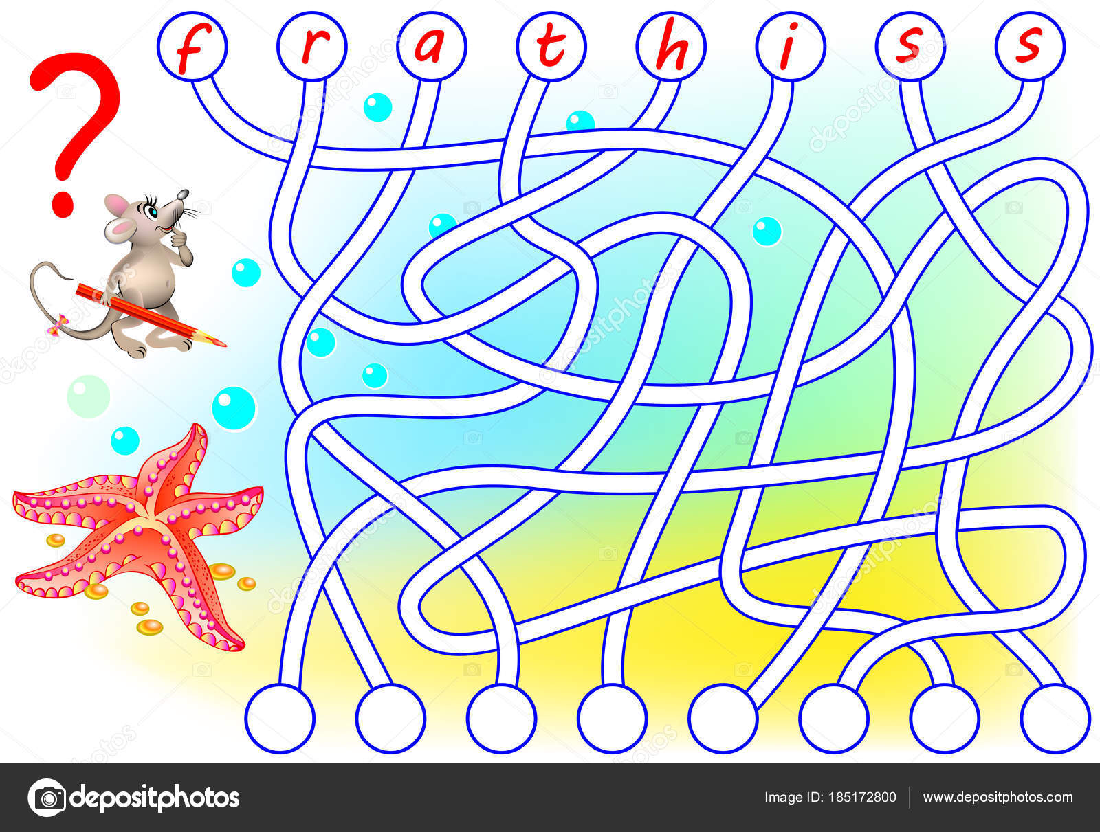 Logik Puzzle Spiel Für Studie Englisch Finden Die Richtigen Plätze ...