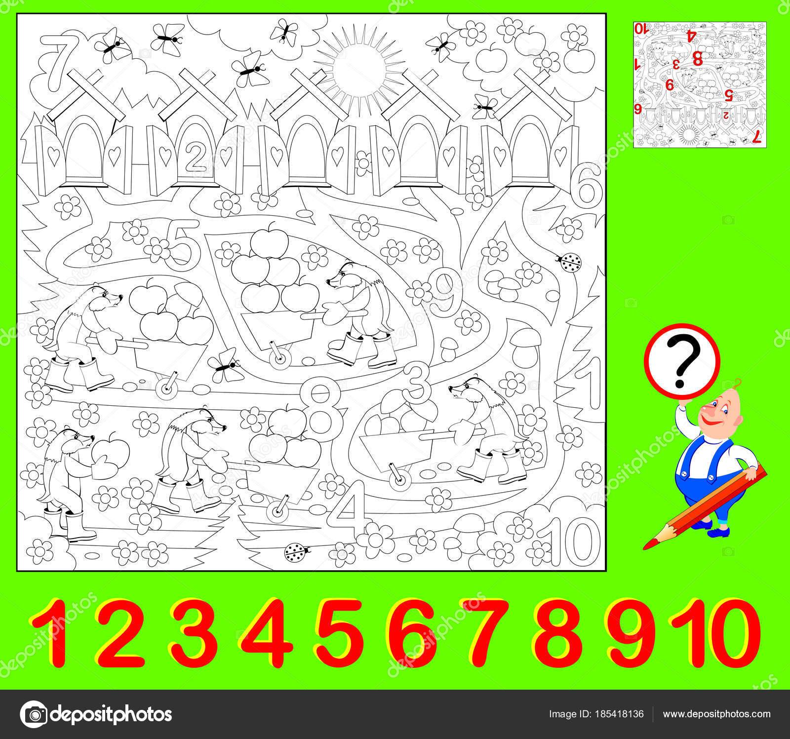 Página Educativa Para Niños Pequeños Necesario Encontrar Los Números ...