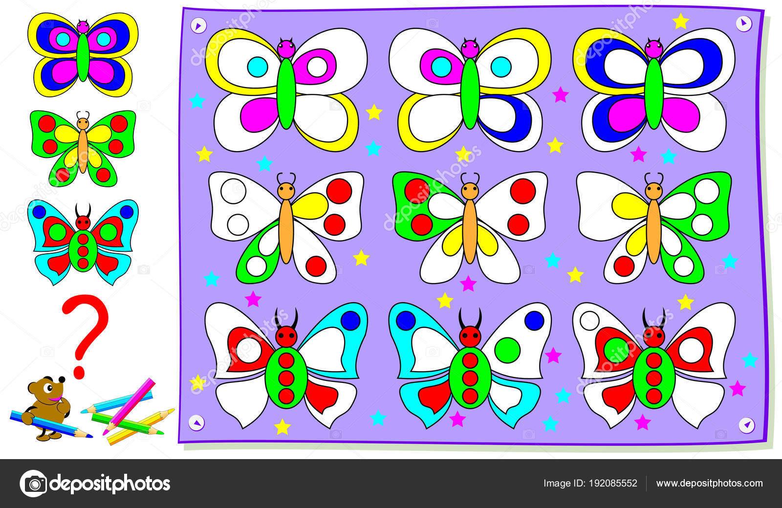 Página Educativa Para Niños Pequeños Pintar Las Mariposas Para Que ...