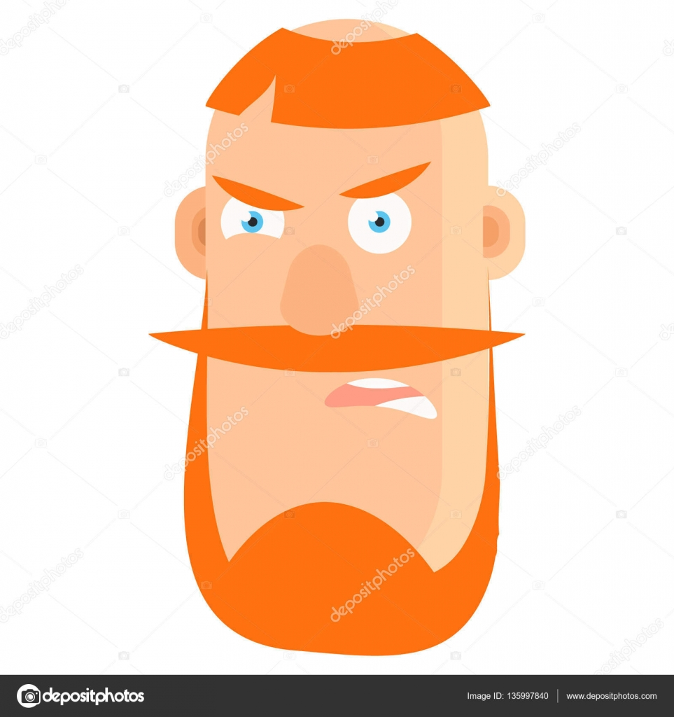 cartoon character with red hair and mustache cartoon