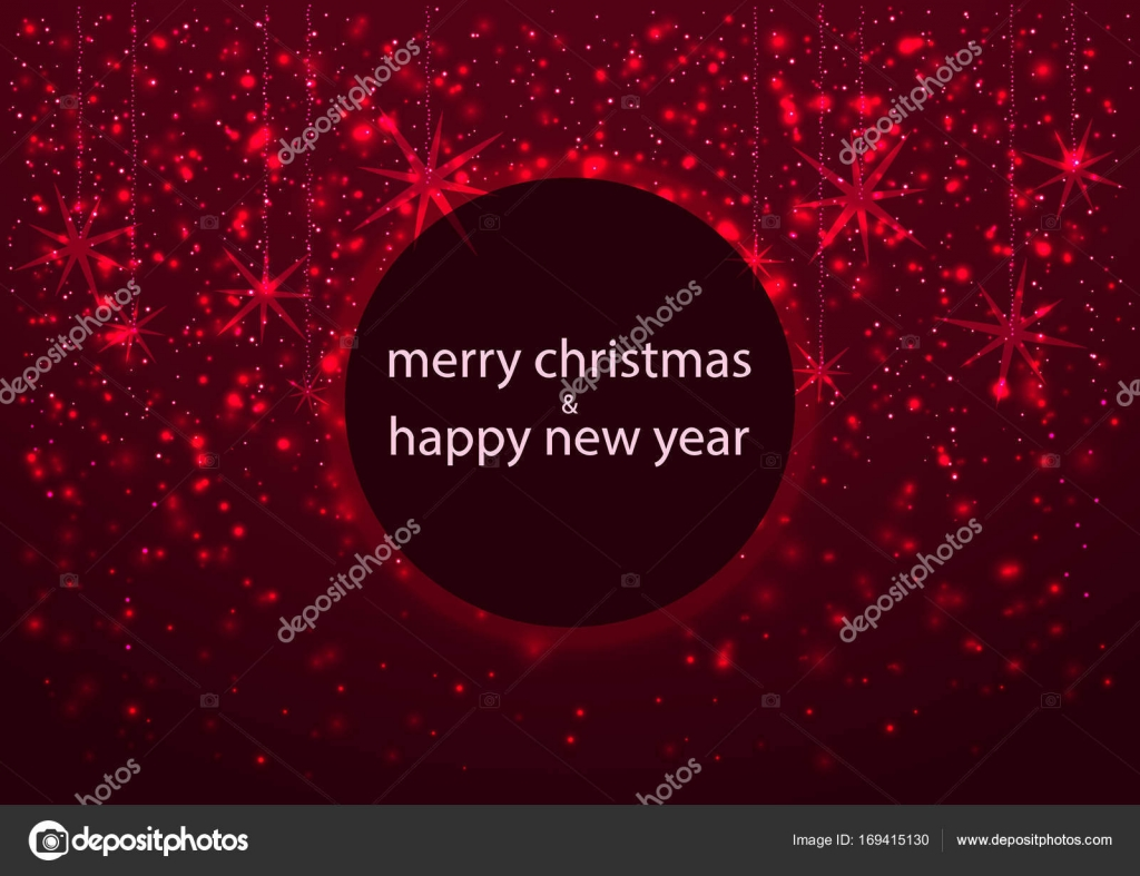 Template Of Greeting Card Merry Christmas And Happy New Year With
