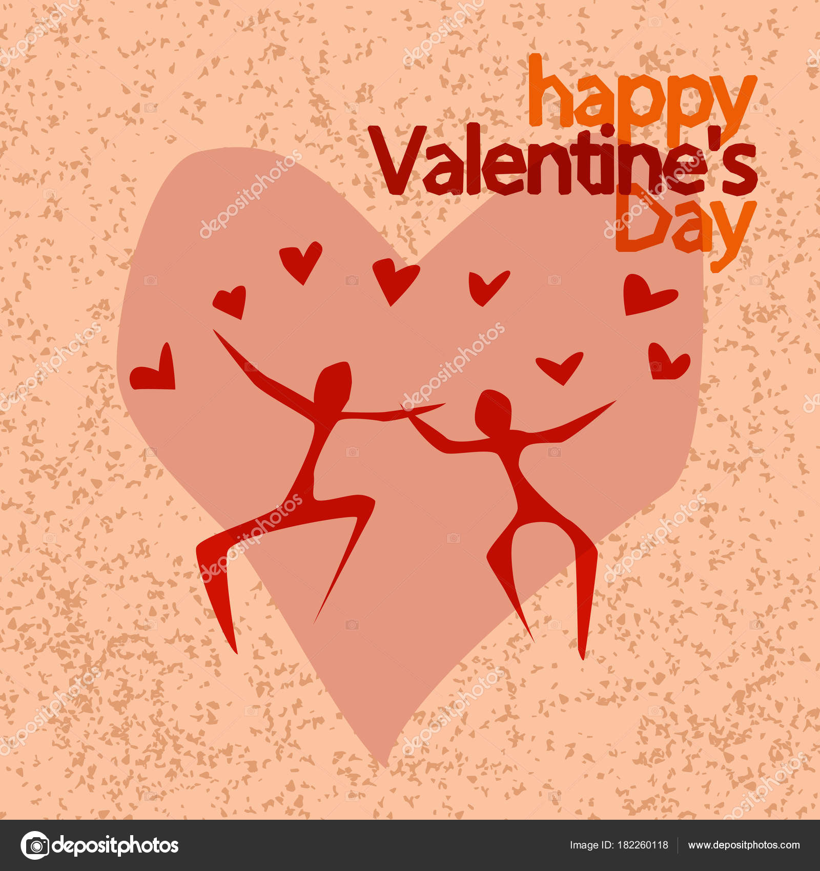 Cover Design For Valentine Greeting Card Romantic Design With Human