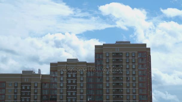 Timelapse of residential apartment building
