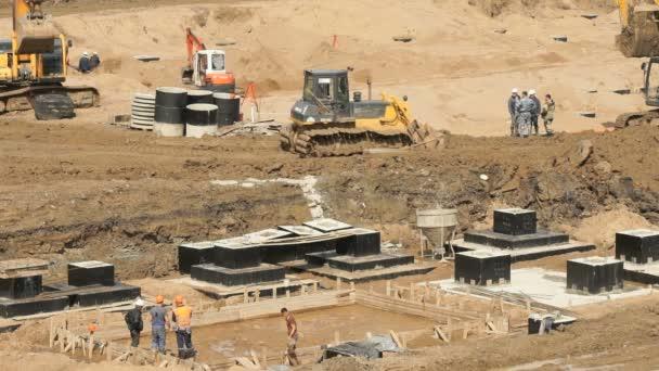 Velká výstavba velkého komplexu budov