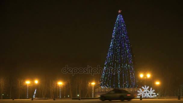 Vánoční strom blikat v noci