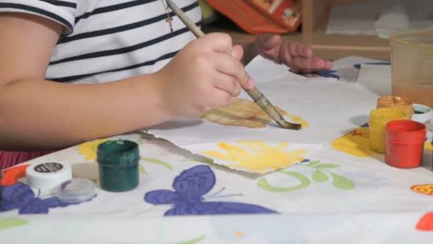 Ismeretlen gyermek rajz kép akvarellek