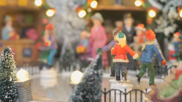 Vánoční hračka suvenýr - zimní stadion