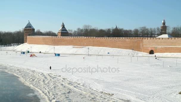 Kreml Velikij Novgorod v zimě, Rusko