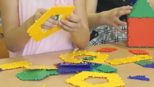 Children play in kindergarten indoors