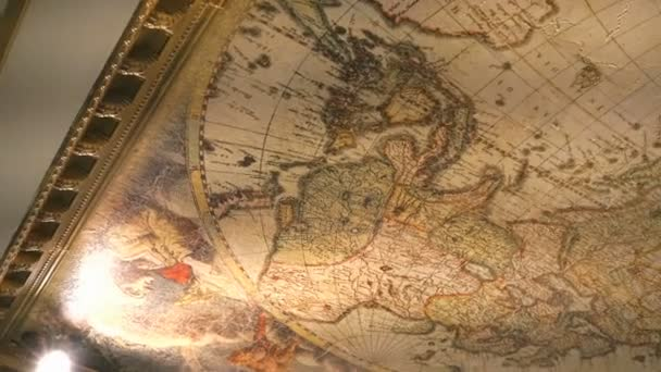 World map in old style in a gold frame close up stock video world map in old style in a gold frame close up stock video gumiabroncs Image collections