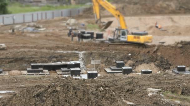 Velká výstavba rozsáhlého komplexu budov