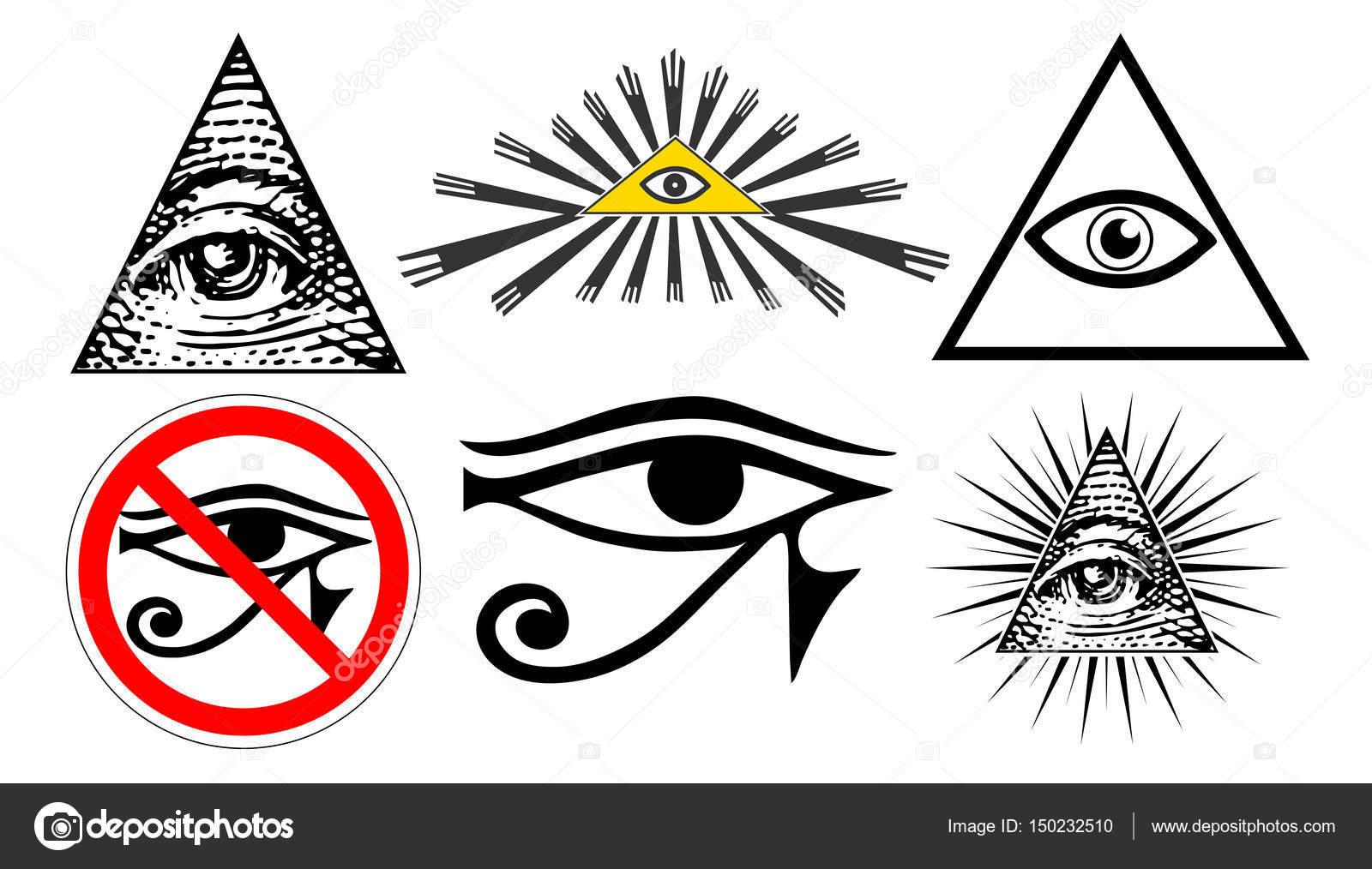 All seeing eye of providence illuminati new world order set all seeing eye of providence illuminati new world order set vector vector by irusetkayandex biocorpaavc