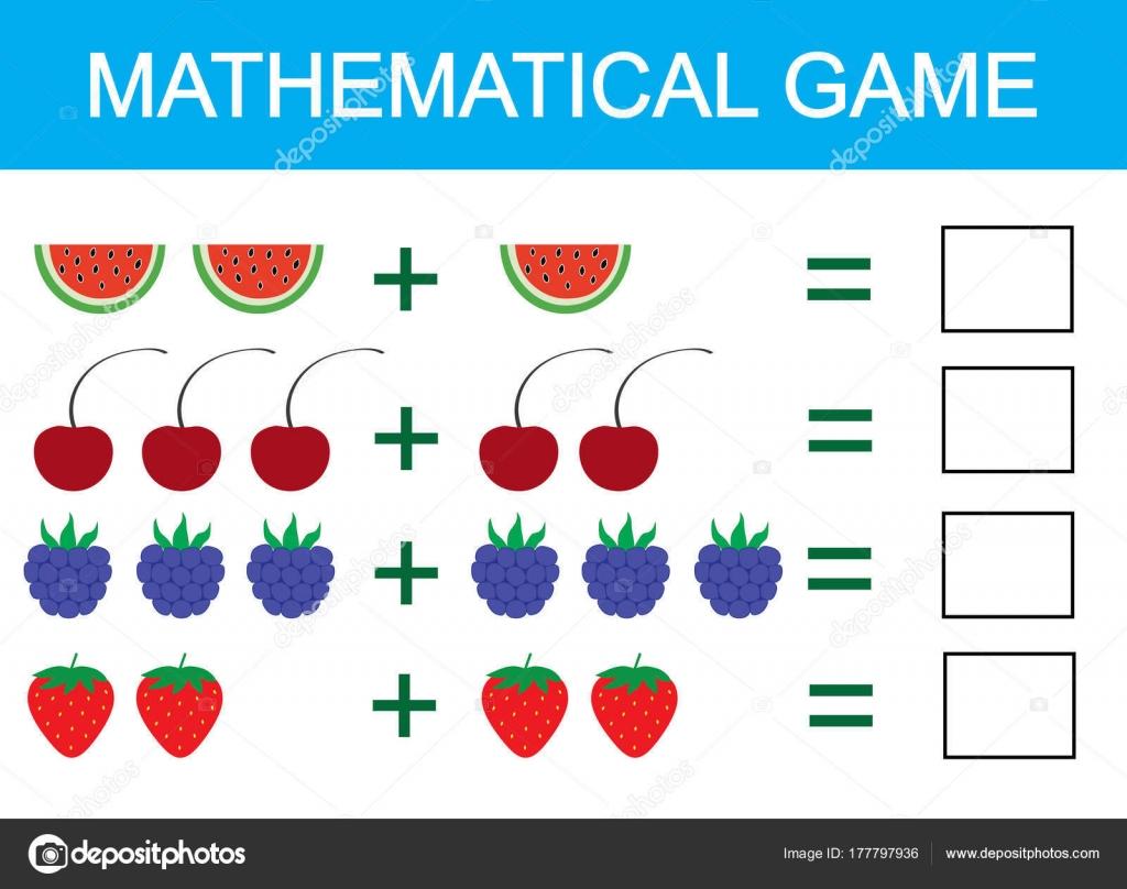 Mathematisches Spiel Für Kinder Ergänzung Für Kinder Aktivitäten ...