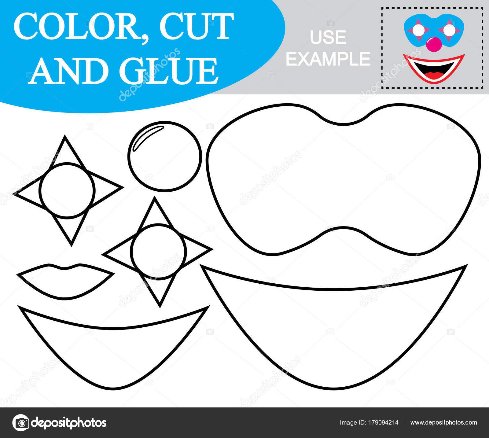 Erstellen Sie Das Abbild Der Maske Des Clowns Arbeitsblatt Färben ...