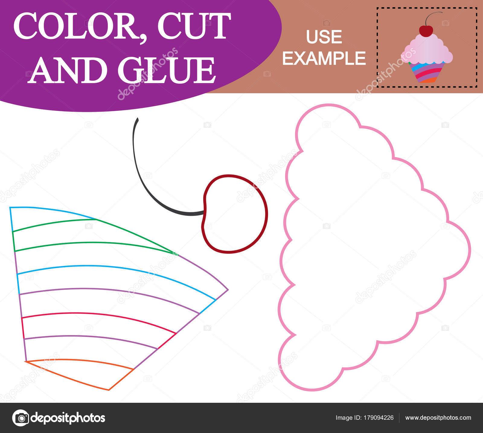 Erstellen Sie Das Bild Von Cupcake Mit Kirsche Arbeitsblatt Färben ...