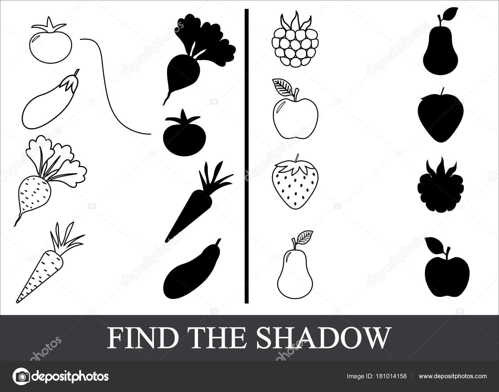 Gemüse Beeren Und Früchte Zu Malen Und Den Richtigen Schatten Zu