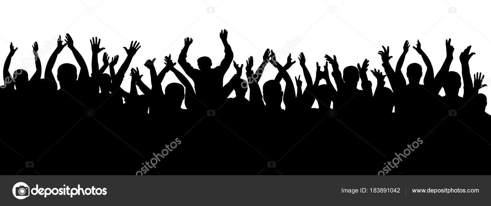Multitud De Gente Silueta