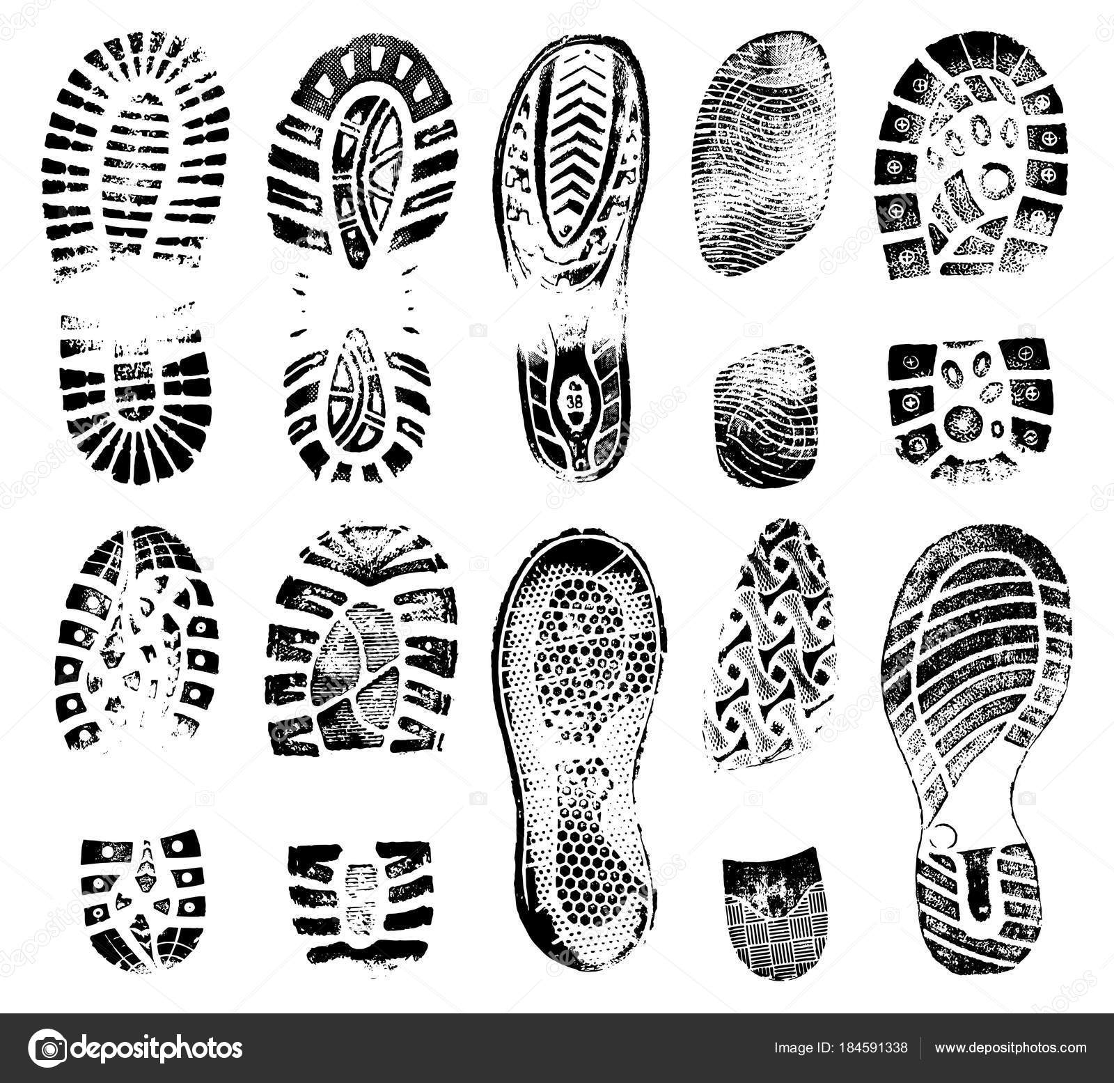 Huellas Humana Huella De Zapato Silueta Vector Zapatos q7Y6wx