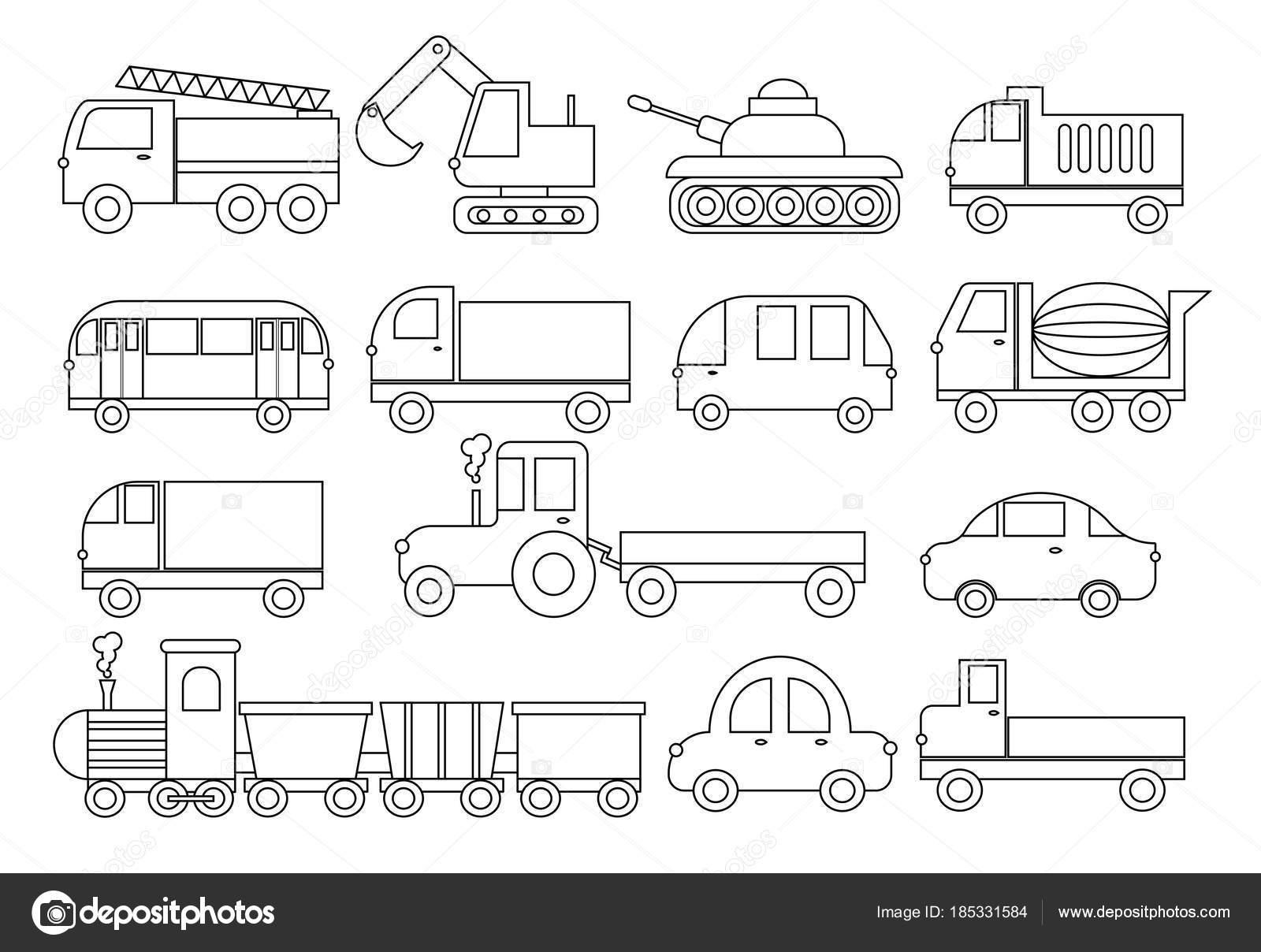 Coloriage Camion Tracteur.Livre De Coloriage Coffret De Transport Voiture Bus Train