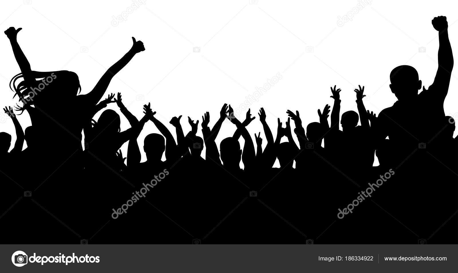 Multitud De Gente Silueta: Multitud De Gente Alegre