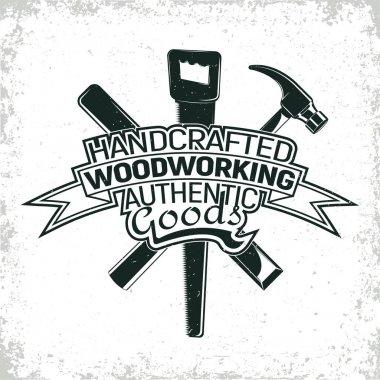 vinatge woodworking logo