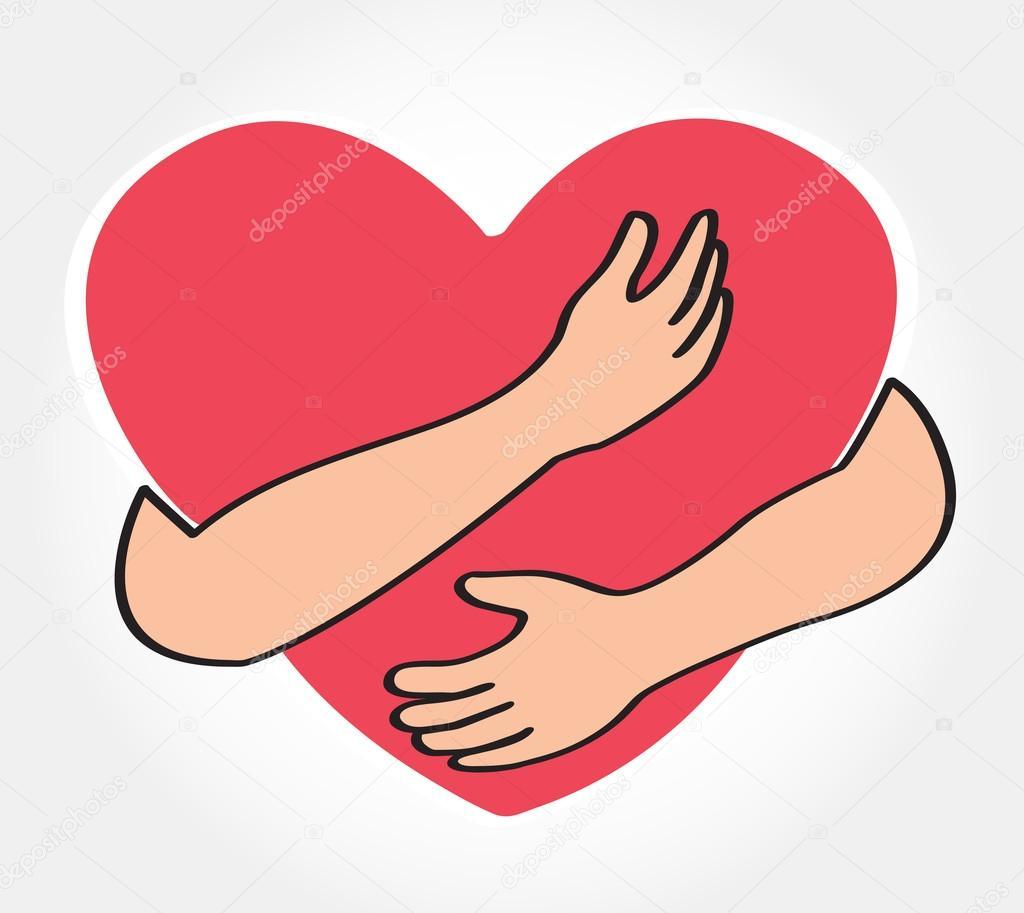 abrazando el vector coraz u00f3n  abrazo a s u00ed mismo  amarse a hugs clip art free jpg hugs clip art emoji