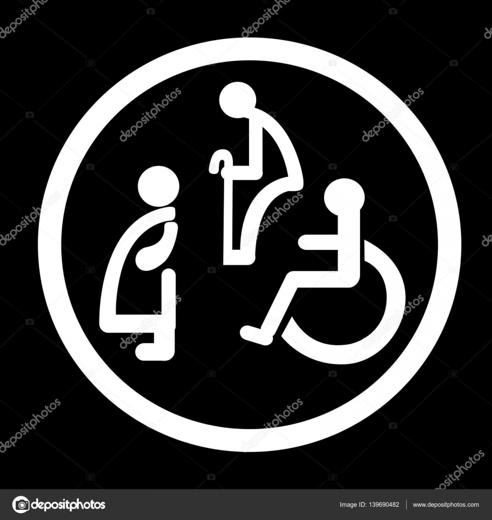 Bathroom Sign Vector bathroom for persons with disabilities. disabled toilet sign