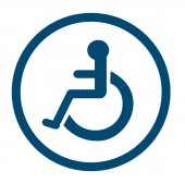 Fotografie bathroom for persons with disabilities , disabled toilet , Bathroom signs