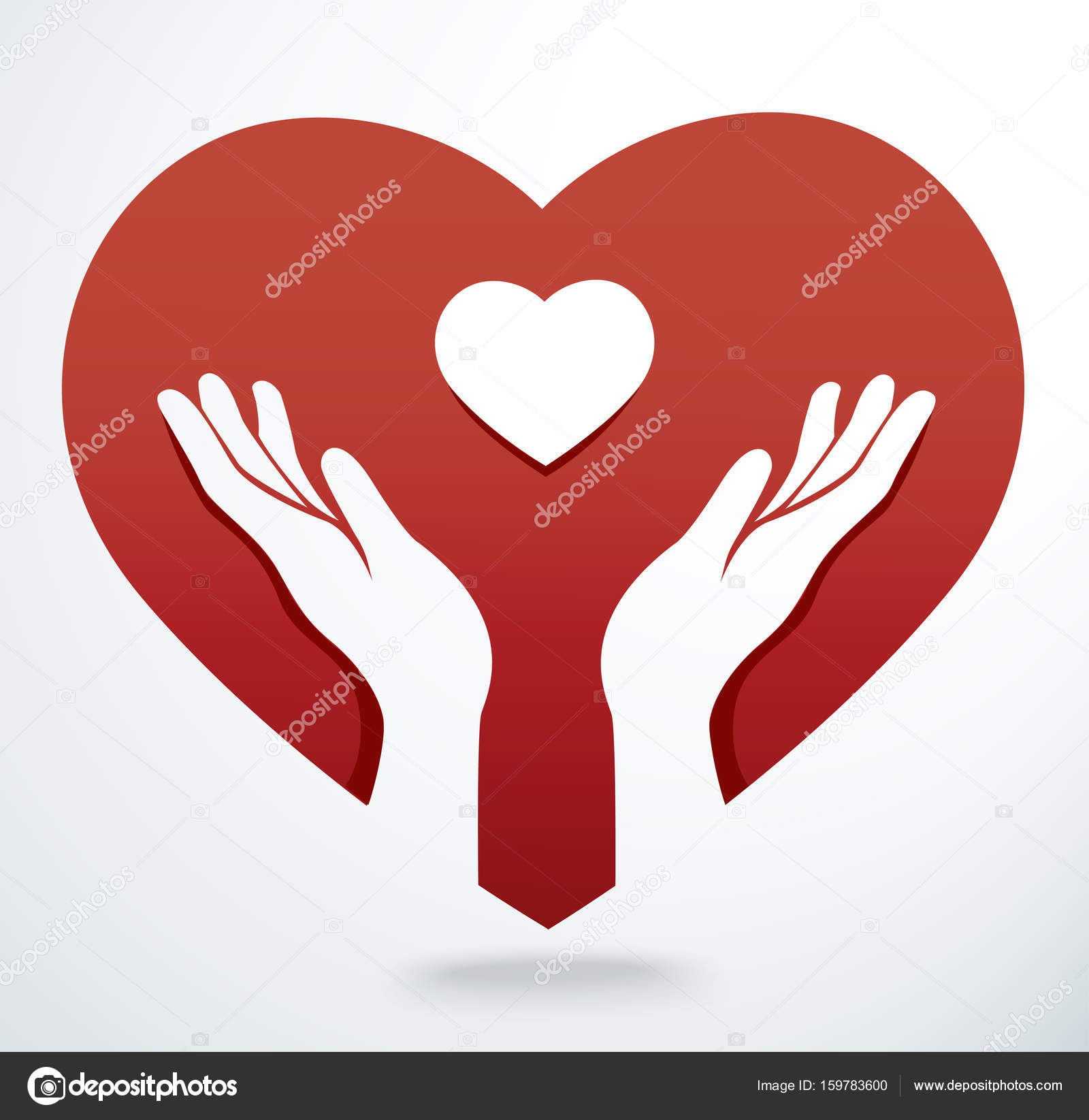 hands pray and heart icon vector stock vector h santima gmail